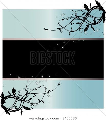 Starry Light Blue Text Frame Vector Illustration