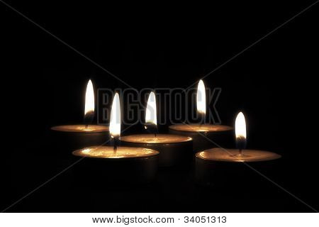 Candles On Black Background 2
