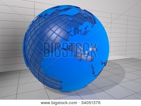 Detailed 3D Earth Render