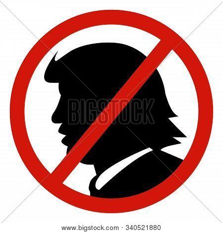 Kiev, Ukraine, December 19, 2019: Impeach U.s. President Donald Trump. Portrait Of Trump With The In