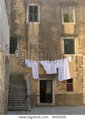 Laundry Hanging In Croatia