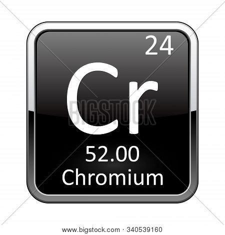 The Periodic Table Element Chromium. Vector Illustration