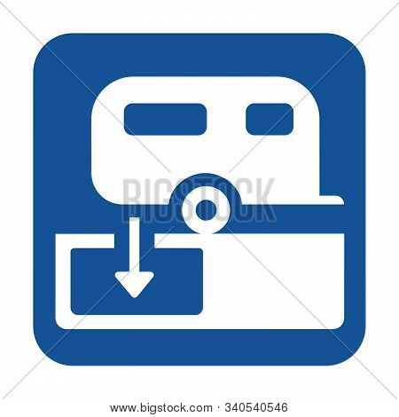 Dumping Station For Caravan Symbol With A White Background