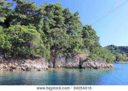The Scorpios island in Nidri Lefkada Greece poster