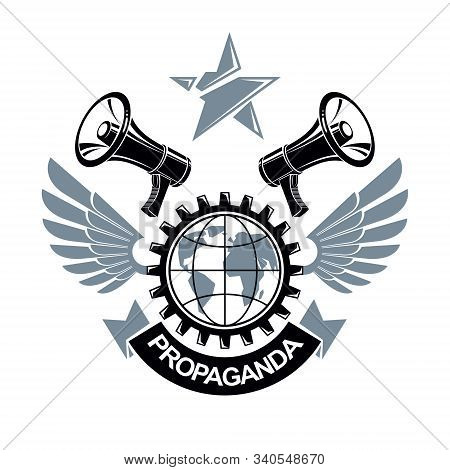 Revolution And Riot Aggressive Emblem Or Logo With Strong Clenched Fist, Vector Tattoo, Anarchy And