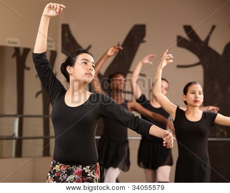 Lovely Ballet Students Practice