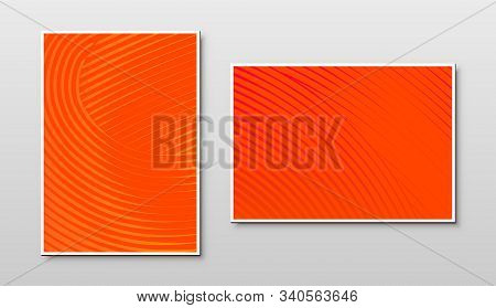 Lush Lava Orange Color Plates With Color Trend Of 2020 And Light Texture On Abstract Background