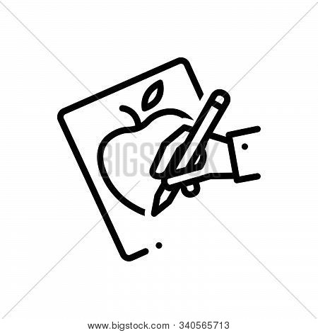 Black Line Icon For Handdrawing Drawing Craft Painting Graphic Sketch