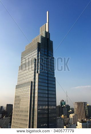 Saigon, Vietnam - Feb 13, 2019. Vietcombank Building In Saigon, Vietnam. Saigon (ho Chi Minh City) I
