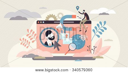 Buyer Persona Vector Illustration. Customer Profile Representation In Tiny Persons Concept. Ideal Co