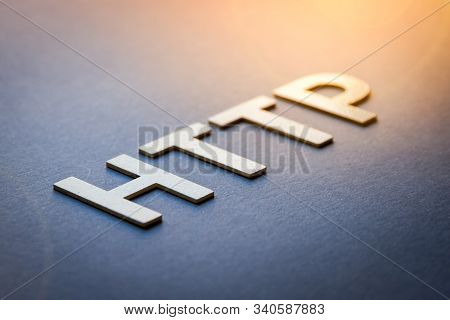 Word Http Written With White Solid Letters On A Board