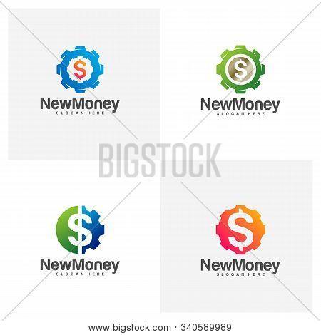 Set Gear Money Logo Vector Photo Free Trial Bigstock