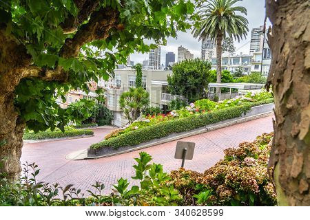 View Of Lombard Street In San Francisco, California.