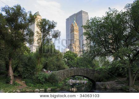 NEW YORK CITY, USA - JUNE 8: Gapstow bridge in Central Park. Central Park is a public park at the center of Manhattan. June 8, 2012 in New York City, USA