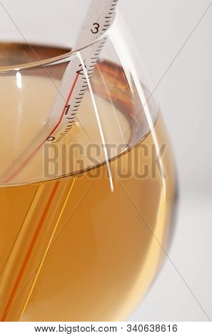 Measuring White Wine Temperature With A Wine Thermometer