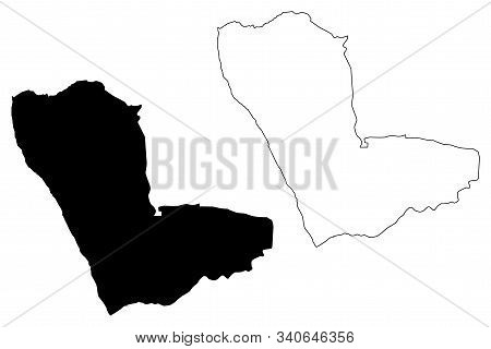 Kunene Region (regions Of Namibia, Republic Of Namibia) Map Vector Illustration, Scribble Sketch Kun