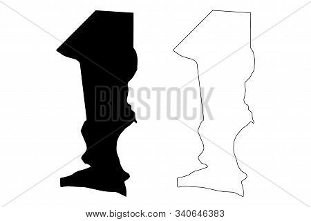 Oshana Region (regions Of Namibia, Republic Of Namibia) Map Vector Illustration, Scribble Sketch Osh