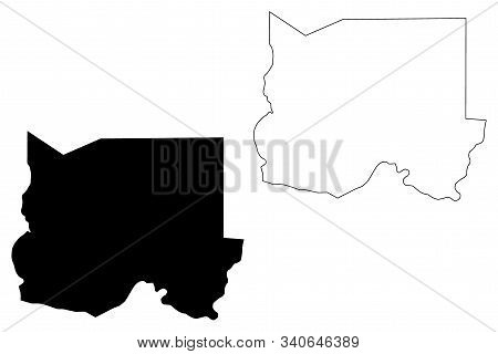 Oshikoto Region (regions Of Namibia, Republic Of Namibia) Map Vector Illustration, Scribble Sketch O
