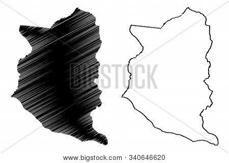 San Jose Department (departments Of Uruguay, Oriental Republic Of Uruguay) Map Vector Illustration,