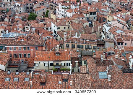 View Of Red Clay Roofs Of Venice From The Campanile