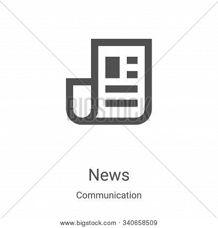 news icon isolated on white background from communication collection. news icon trendy and modern ne