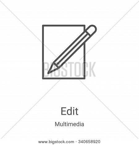 edit icon isolated on white background from multimedia collection. edit icon trendy and modern edit