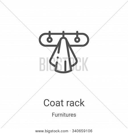 coat rack icon isolated on white background from furnitures collection. coat rack icon trendy and mo