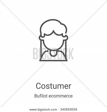 costumer icon isolated on white background from bufilot ecommerce collection. costumer icon trendy a