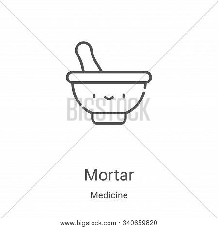mortar icon isolated on white background from medicine collection. mortar icon trendy and modern mor
