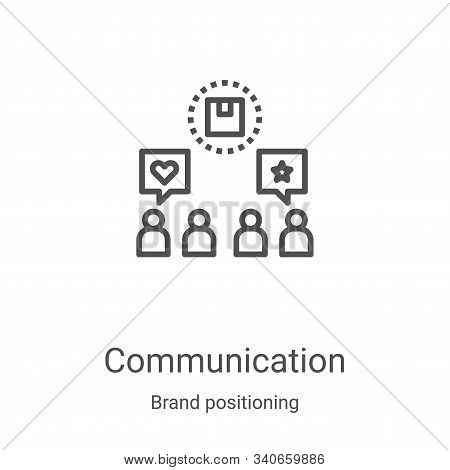 communication icon isolated on white background from brand positioning collection. communication ico