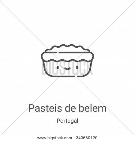 pasteis de belem icon isolated on white background from portugal collection. pasteis de belem icon t