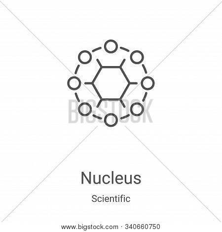Nucleus icon isolated on white background from scientific collection. Nucleus icon trendy and modern