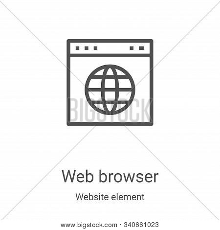 web browser icon isolated on white background from website element collection. web browser icon tren