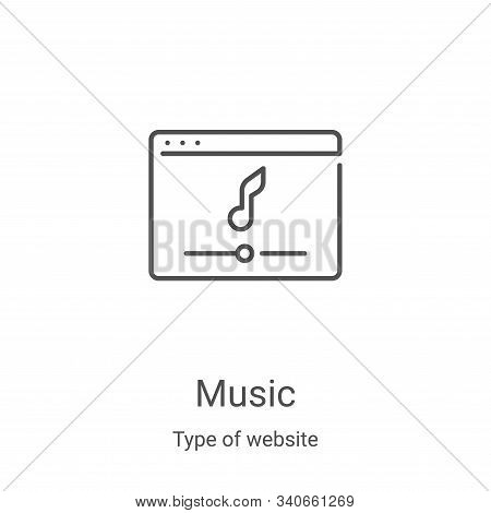 music icon isolated on white background from type of website collection. music icon trendy and moder