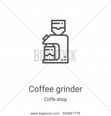 coffee grinder icon isolated on white background from coffe shop collection. coffee grinder icon tre
