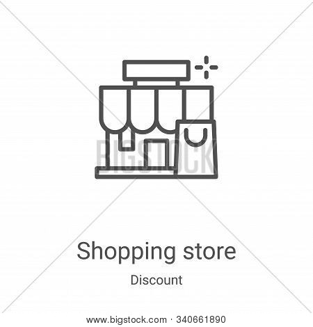 shopping store icon isolated on white background from discount collection. shopping store icon trend