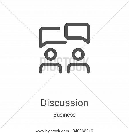 discussion icon isolated on white background from business collection. discussion icon trendy and mo