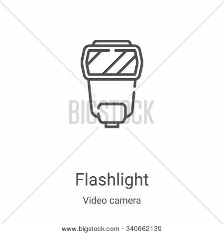 flashlight icon isolated on white background from video camera collection. flashlight icon trendy an