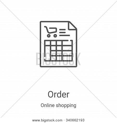 order icon isolated on white background from online shopping collection. order icon trendy and moder
