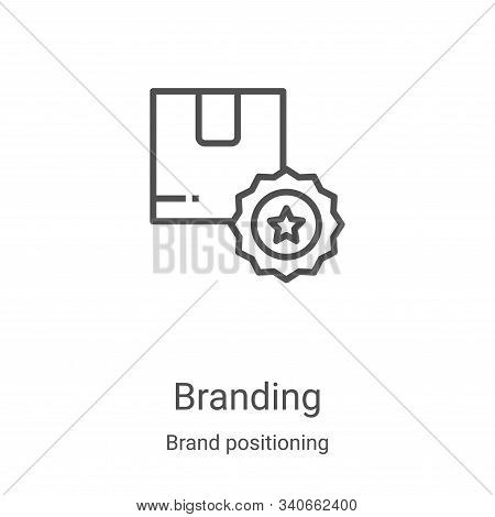 branding icon isolated on white background from brand positioning collection. branding icon trendy a
