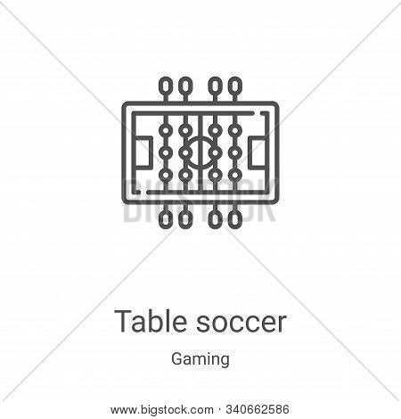 table soccer icon isolated on white background from gaming collection. table soccer icon trendy and