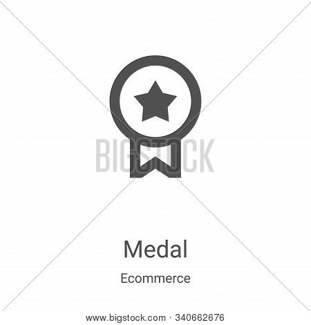 medal icon isolated on white background from ecommerce collection. medal icon trendy and modern meda