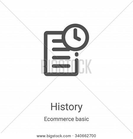 history icon isolated on white background from ecommerce basic collection. history icon trendy and m