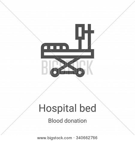 hospital bed icon isolated on white background from blood donation collection. hospital bed icon tre
