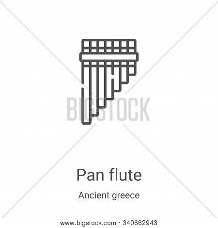 pan flute icon isolated on white background from ancient greece collection. pan flute icon trendy an