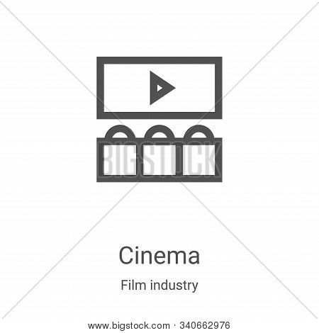 cinema icon isolated on white background from film industry collection. cinema icon trendy and moder