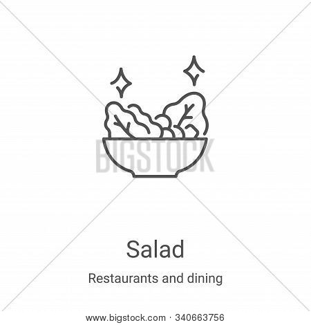salad icon isolated on white background from restaurants and dining collection. salad icon trendy an