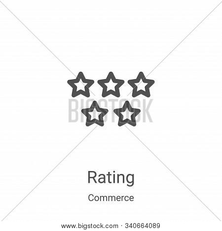 rating icon isolated on white background from commerce collection. rating icon trendy and modern rat