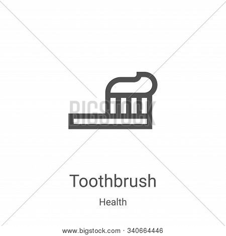 toothbrush icon isolated on white background from health collection. toothbrush icon trendy and mode