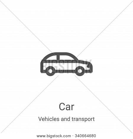car icon isolated on white background from vehicles and transport collection. car icon trendy and mo